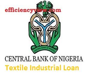 CBN Textile Industry Free Interest Loan 2021