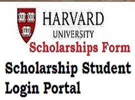 Harvard University Scholarship Student Login Portal | Registration/ Application Form
