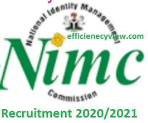 NIMC Recruitment Application Form Link Portal 2020/2021