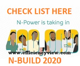 Npower Build Recruitment Batch C List of Successful Shortlisted Candidates 2020/2021