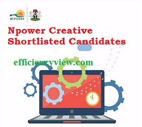 Npower Creative Batch C List of Shortlisted Candidates 2020/2021