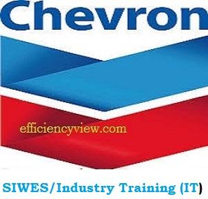 Chevron SIWES/Industry Training (IT) Application Form 2020/2021