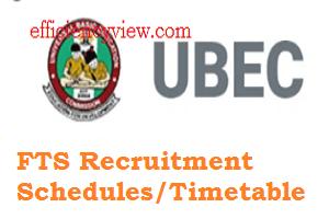 UBEC Federal Teachers Scheme FTS Recruitment Schedules/Timetable for 2020 CBT Test Screening Test Interview