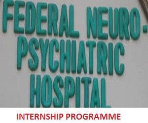 Federal Neuropsychiatric Hospital Enugu Internship Recruitment Program 2020/2021 apply here