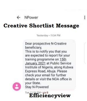 Npower Batch C Creative Shortlist Names 2021 List of Shortlisted Beneficiaries out check here