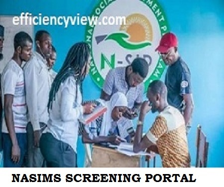 Npower Batch C Screening NASIMS Portal for 2021/2022 Physical Verification Exercise