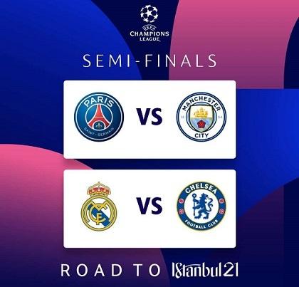 Champions League Semi-Finals Dates/Venue April/May 2021 Confirmed