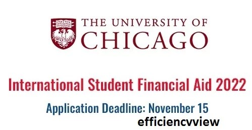 USA International Student Financial Aid at University of Chicago 2022