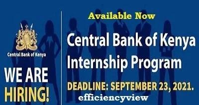 Central Bank of Kenya Internship Program 2021 - www.centralbank.go.ke