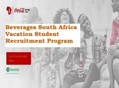 Coca-Cola Beverages South Africa Vacation Student Recruitment Program 2021 Registration Form Link