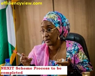 Sadiya Umar Farouq says NEXIT Scheme Process to be completed before 2021