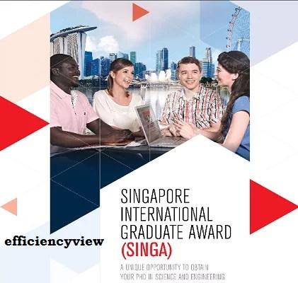 Singapore International Graduate Scholarship Award 2022 to Study PhD Programme in Singapore