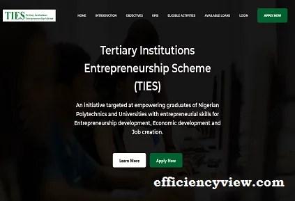 Link Portal for 2021-2022 CBN Tertiary Institution Entrepreneurship Scheme Grants for Undergraduates/Graduates