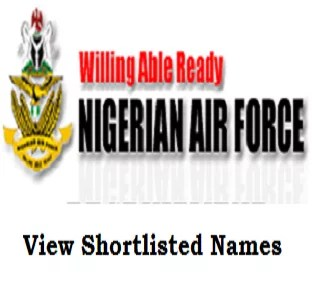 Nigerian Air Force 2021 Recruitment List of Successful Applicants for BMTC is out