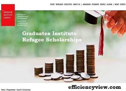 Graduates Institute Refugee Scholarships 2022 to study in Switzerland – Apply Here