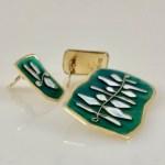 Set of brooch and earrings by Nora Gulbrandsen for David-Andersen