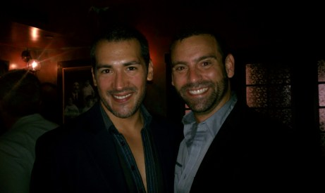 Hosts F. E. Cornejo, Effie Magazine's Editor-in-chief (left) and Nicholas Cacarnakis, Prudential Realty Beverly Hills.