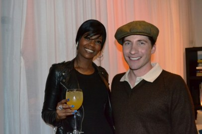 Actor, Mark Cirillo (R) with gorgeous friend Dee Wilson.