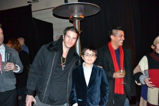 Artist Gregory Siff with young friend.