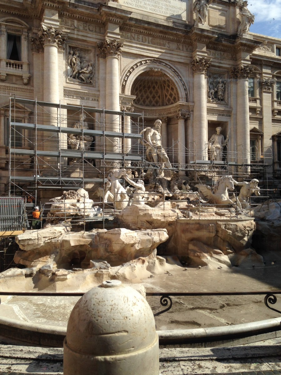 Trevi Fountain Now, Ugh!