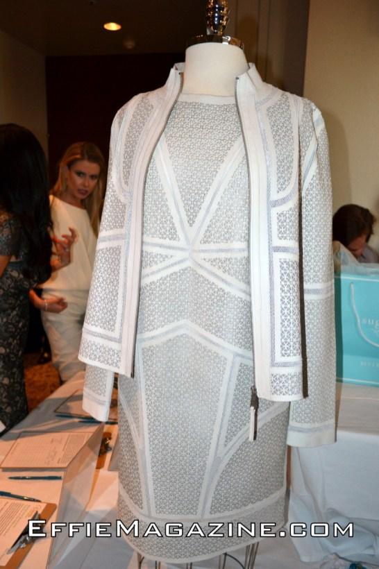 Laser cut Elie Tahari leather dress & jacket