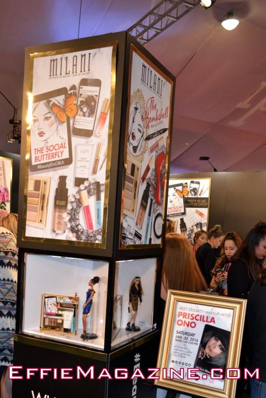 Milani Cosmetics booth