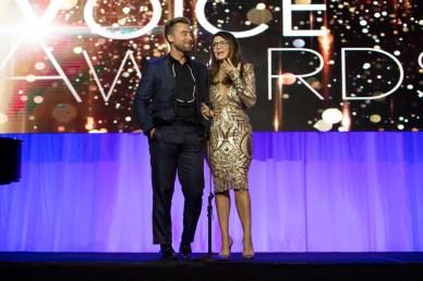 Lisa Vanderpump & Lance Bass Presenting On Stage