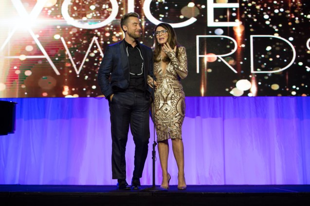 Lisa Vanderpump & Lance Bass Presenting On Stage
