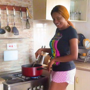 Chika Ike Shows Off Her Cooking (Photo)