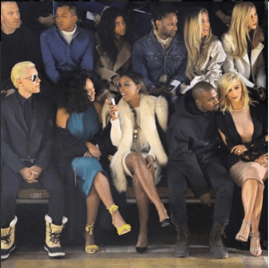 Kanye West, Kim Kardashian, Kelly Rowland, Solange At Paris Fashion Week (Photos)