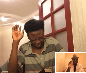 African Parents can always discipline you even via Skype (Funny Video)