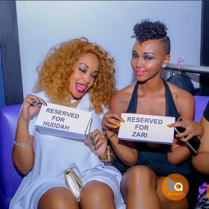 Huddah Monroe Parties with Zari Hassan (Photos)