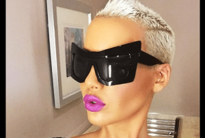 Amber Rose hot Body in Rubber Jumsuit (Photos)