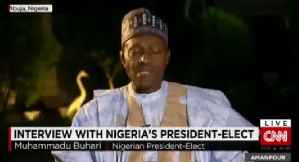 President-Elect Muhammadu Buhari first interview with CNN (Video)