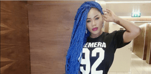 Toyin Lawani Stuns in Blue Braids (Photo)