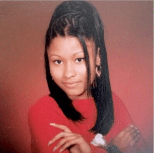 Nicki MInaj shares her photo when she was a Youngster