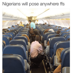 Nigerians will pose anywhere for picture – Another Laugh (Photo)