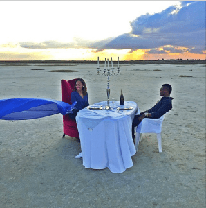 Look at how Wizkid wines and dines with his Lady (Photo)