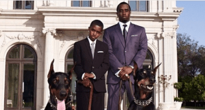 Sean Diddy Combs poses with his huge Dogs (Photos)