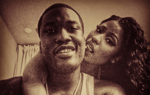 Nicki Minaj and Meek Mill showing strong fondness for each other (Photos)