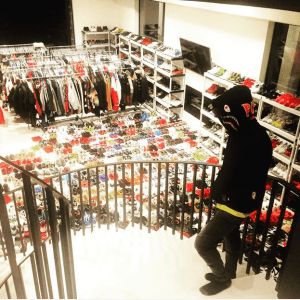 Chris Brown shows off his huge Closet (Photo)