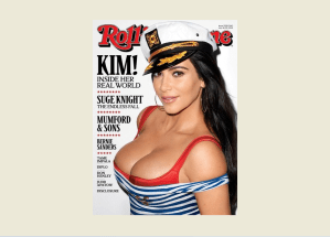 Kim Kardashian and her boobs cover Rolling Stone (Photo)
