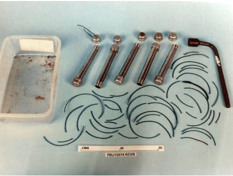 Items recovered from his home