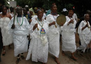 Photo's from Osun-Osogbo Festival going on now