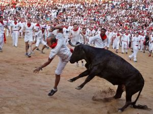 Man gored to death trying to film bull run on his mobile phobe in Spain