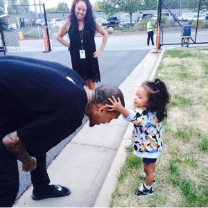 Chris Brown with daughter, Royalty looking adorable (Photos)