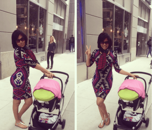 Anna Ebiere Steps Out With Daughter in New York (Photos)