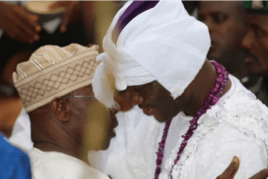 Obasanjo visits new Ooni of Ife and pays homage