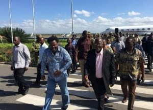 TB Joshua gets warm welcome at the airport from Tanzania's President-elect (Photos)