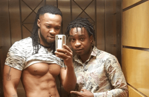 Flavour N'abania shows off his hot body (Photo)
